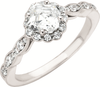 Cubic Zirconia Engagement Ring- The Cherie (1.26 Carat TCW Asscher or Round Cut Twisted Band)