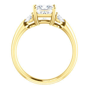 Cubic Zirconia Engagement Ring- The Leeanne (Customizable 5-stone Design with Princess Cut Center and Marquise Accents)