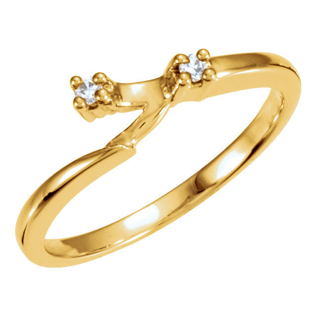 CZ Wedding Set Style 040 Feat The Julie Engagement Ring Customizable Modern Solitaire With Bypass Band