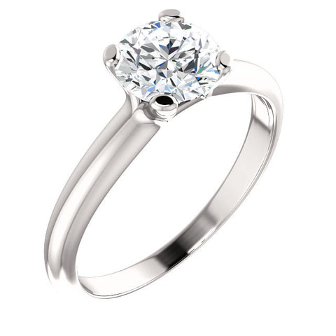 Cubic Zirconia Engagement Ring- The Kathleen (Customizable Round Cut Solitaire)