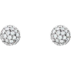 Cubic Zirconia Earrings- 1/2 CTW CZ