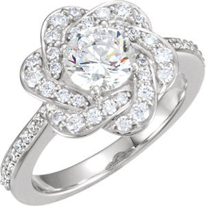 Cubic Zirconia Engagement Ring- The Felicity