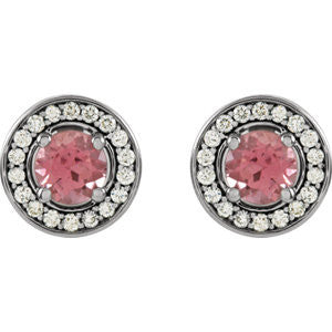 Cubic Zirconia Earrings- Pink CZ