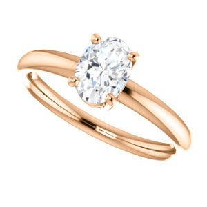 Cubic Zirconia Engagement Ring- The Angelina (Customizable Oval Cut Elevated Solitaire)