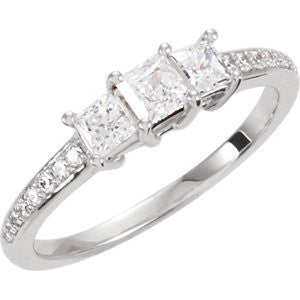 Cubic Zirconia Engagement Ring- The Maurissa