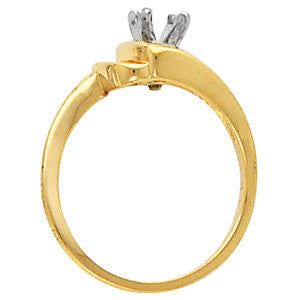 Cubic Zirconia Engagement Ring- The Katniss (Customizable 5-stone Round Channel with Bow-Shaped Band)