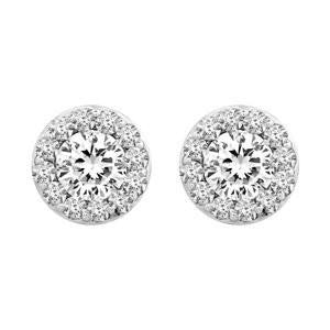 Cubic Zirconia Earrings- 14K CZ Fantasy