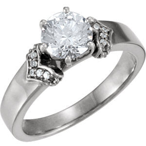 Cubic Zirconia Engagement Ring- The Glenda