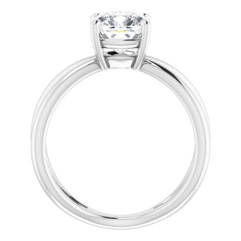 10K Rose Gold Customizable Cushion Cut Solitaire with Semi-Atomic Symbol Band