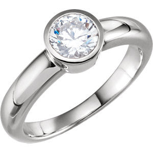 Cubic Zirconia Engagement Ring- The Gardenia