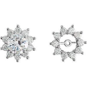 Cubic Zirconia Earrings- 2.2mm Round Jackets