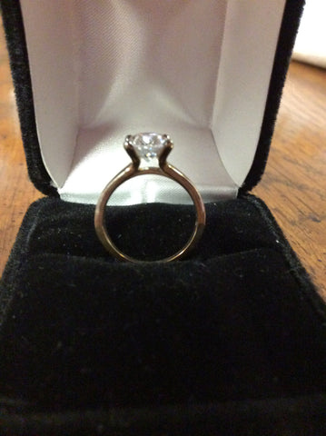 Cubic Zirconia Engagement Ring-*Clearance* The Kathleen (2.50 Carat Oval Cut Solitaire in Sterling Silver)