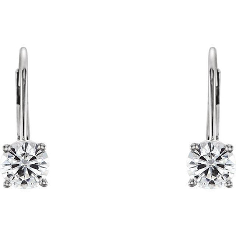 Cubic Zirconia Earrings- Customizable Round Lever Back Set