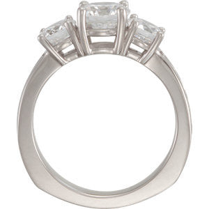Cubic Zirconia Engagement Ring- The Pepper