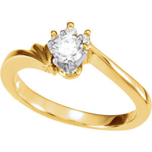 Cubic Zirconia Engagement Ring- The Antonia (Customizable 4-stone Cluster with Scalloped Head Setting)