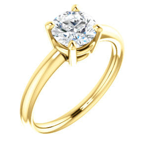 Cubic Zirconia Engagement Ring- The Angelina (Customizable Round Cut Elevated Solitaire)