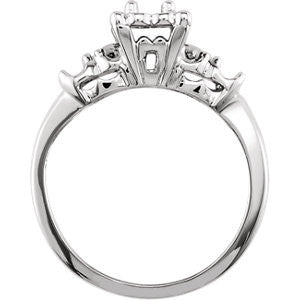 Cubic Zirconia Engagement Ring- The Celestine (0.39 Carat 3-stone Vintage Style with Two-tone Option)