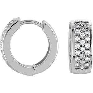 Cubic Zirconia Earrings- 0.4 Carat Ultra-Wide Hoops