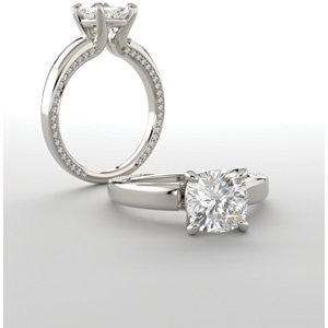 Cubic Zirconia Engagement Ring- The Rosalina