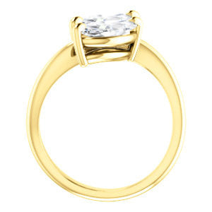 Cubic Zirconia Engagement Ring- The Patti (Customizable Marquise Cut 2-stone Bypass Style)