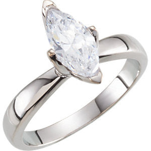 Cubic Zirconia Engagement Ring- The Serena