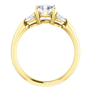 Cubic Zirconia Engagement Ring- The Leeanne (Customizable 5-stone Design with Cushion Cut Center and Marquise Accents)
