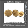 Men's Cufflinks- Heavy Metal Honeycomb Design