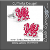 Men's Cufflinks- Red Welsh Dragons