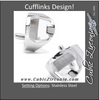 Men's Cufflinks- Stainless Steel Bottle Openers (Functional)