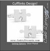 Men's Cufflinks- Silver Plated Puzzle Pieces