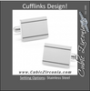 Men's Cufflinks- Stainless Steel Engravable Etched Frames