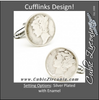Men's Cufflinks- Silver Plated Authentic Liberty Dime Coin Jewelry