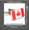 Men's Cufflinks- Canadian Maple Leaf Flags