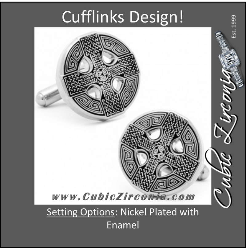 Men's Cufflinks- Celtic Cross and Circle