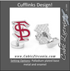 Men's Cufflinks- Palladium Edition Florida State University Seminoles with Enamel Accents (Officially Licensed)