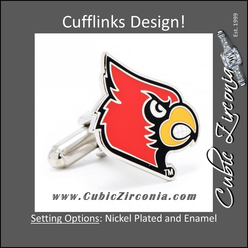 Men's Cufflinks- University of Louisville Cardinals (Officially Licensed)
