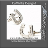 Men's Cufflinks- Silver Plated Lucky Horseshoes