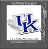 Men's Cufflinks- University of Kentucky Wildcats (Officially Licensed)