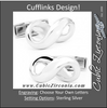 Men's Cufflinks- Sterling Silver featuring Heavy Infinity Symbol