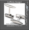 Men's Cufflinks- Sterling Silver Surfboards