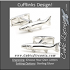 Men's Cufflinks- Sterling Silver Barracudas