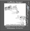 Men's Cufflinks- Sterling Silver Dolphins