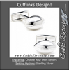 Men's Cufflinks- Sterling Silver Footballs