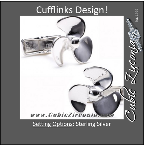 Men's Cufflinks- Sterling Silver Yachtsman's Propellers