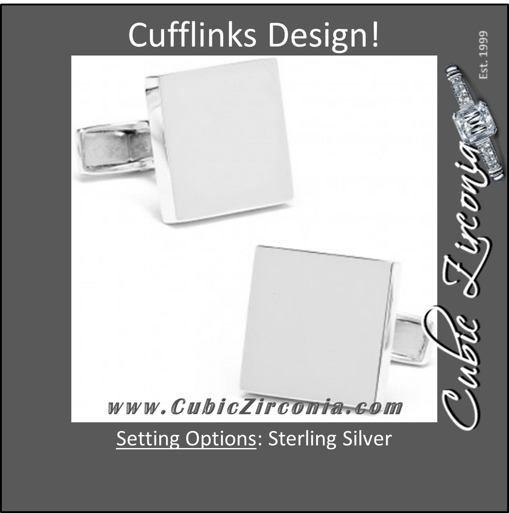 Men's Cufflinks- Sterling Silver Infinity Edge Squares
