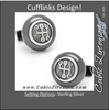 Men's Cufflinks- Sterling Gear Shifters for Car Racing Fans