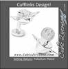 Men's Cufflinks- 3D Palladium Plated Yoda Head (Licensed Star Wars ®)