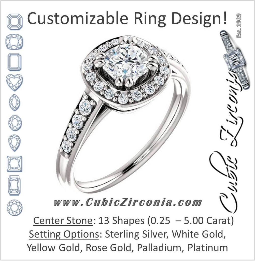 Cubic Zirconia Engagement Ring- The Julie Madison