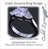 Cubic Zirconia Engagement Ring- The Welden (Asscher Cut 3 Stone with Cathedral Setting)