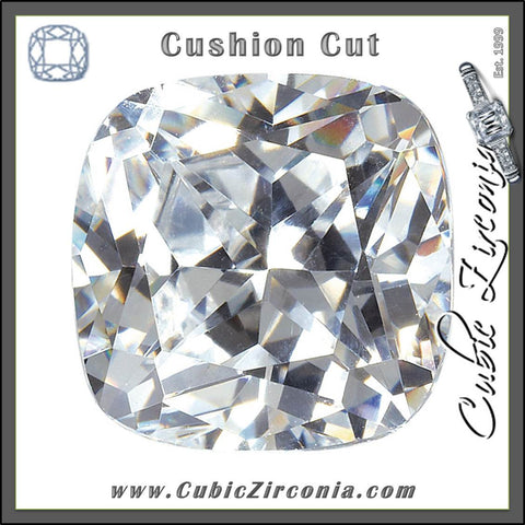 Cushion Cut Cubic Zirconia Loose Stones 5A Quality
